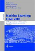 Machine Learning: Proceedings of the 14th European Conference on Machine Learning